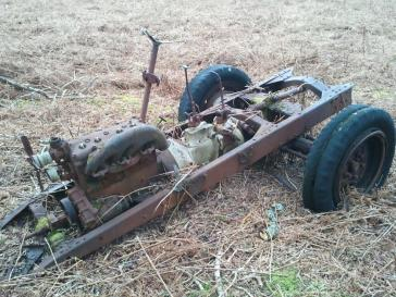 Dochie's tractor today
