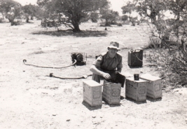 Bill at work with batteries